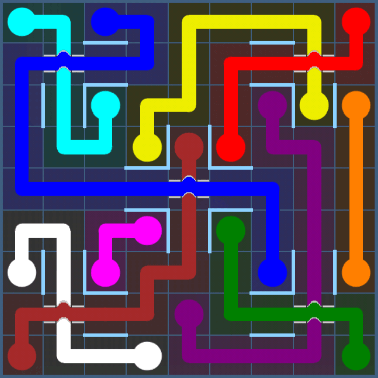 Flow Free – Party Pack – Levels 31-60 – Level 36