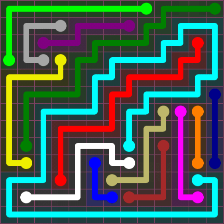 Flow Free – Pink Pack – 13×13 – Level 25