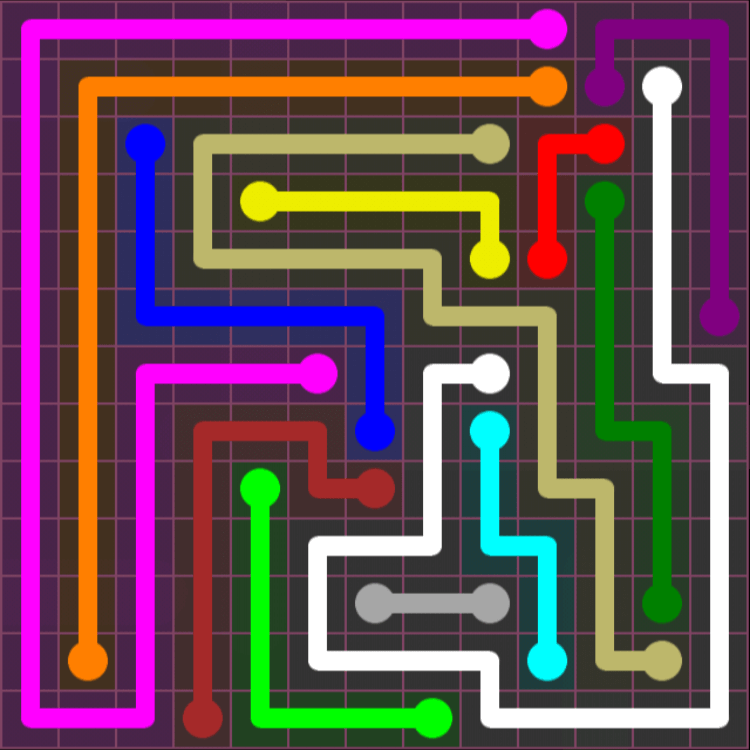 Flow Free – Pink Pack – 13×13 – Level 8