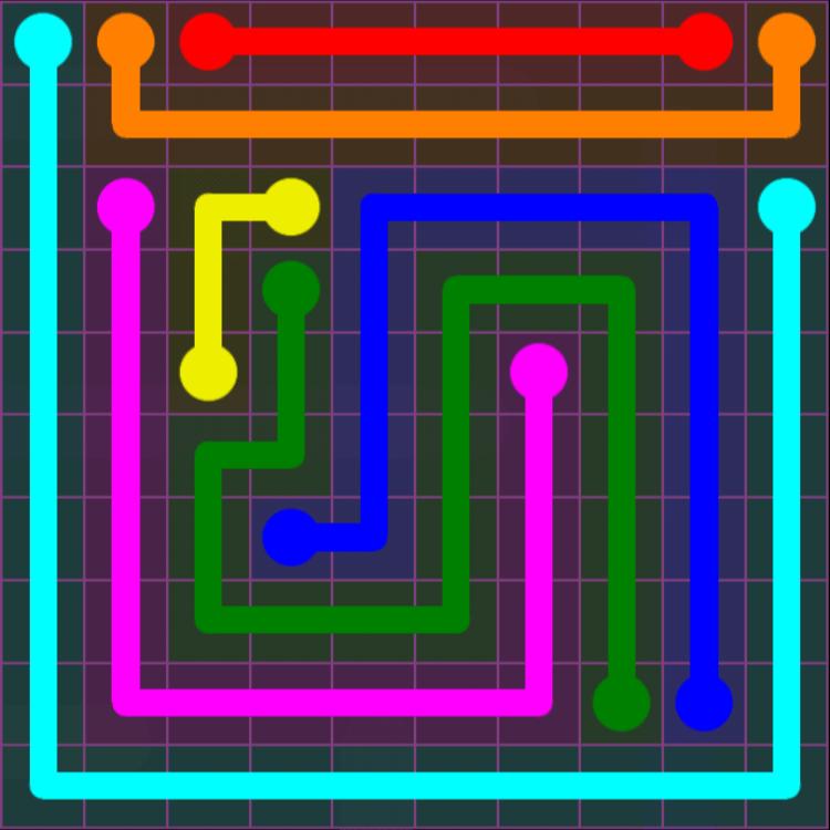 Flow Free – Purple Pack – 10×10 Hard – Level 25