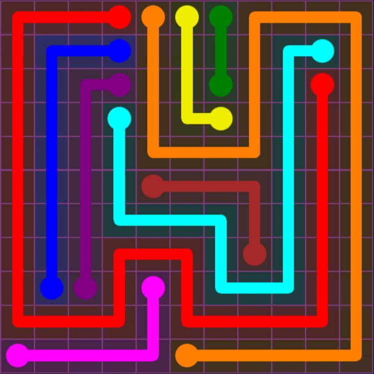 Flow Free – Purple Pack – 11×11 – Level 18