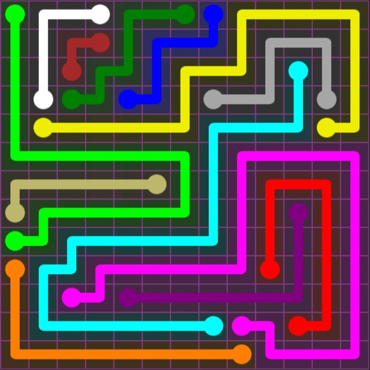 Flow Free – Purple Pack – 13×13 – Level 25