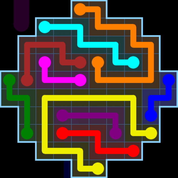 Flow Free – Variety Pack – Levels 121-150 – Level 123