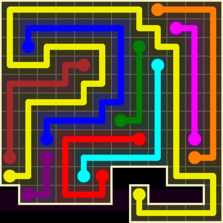 Flow Free – Worm Pack – 12×12 Harder – Level 80