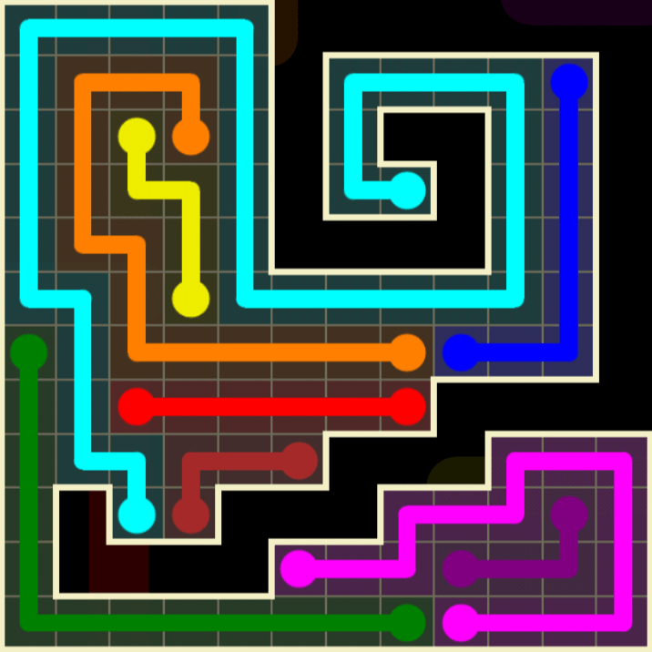Flow Free – Worm Pack – 12×12 Harder – Level 83