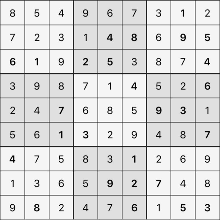 Sudoku's Round – Bonus Round 7 – Puzzle 1