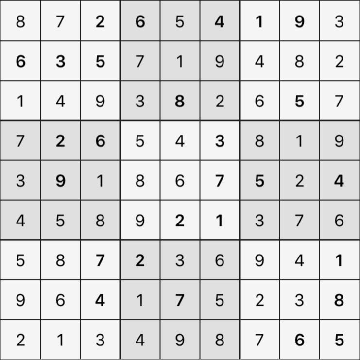 Sudoku's Round – Bonus Round 7 – Puzzle 6