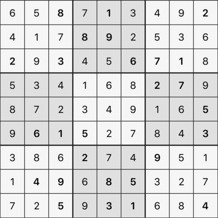 Sudoku's Round – Bonus Round 7 – Puzzle 8