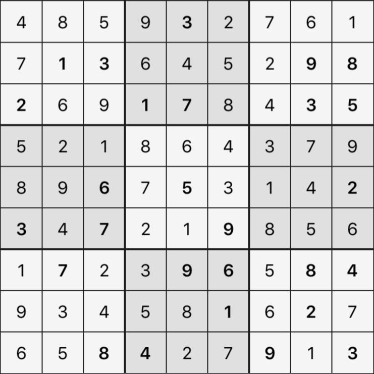 Sudoku's Round – Round 1 – Puzzle 1
