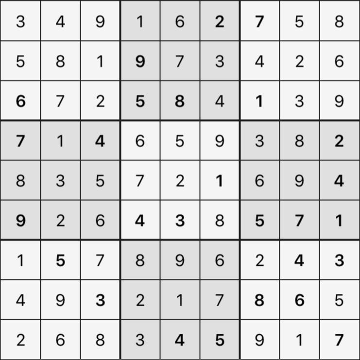 Sudoku's Round – Round 1 – Puzzle 7