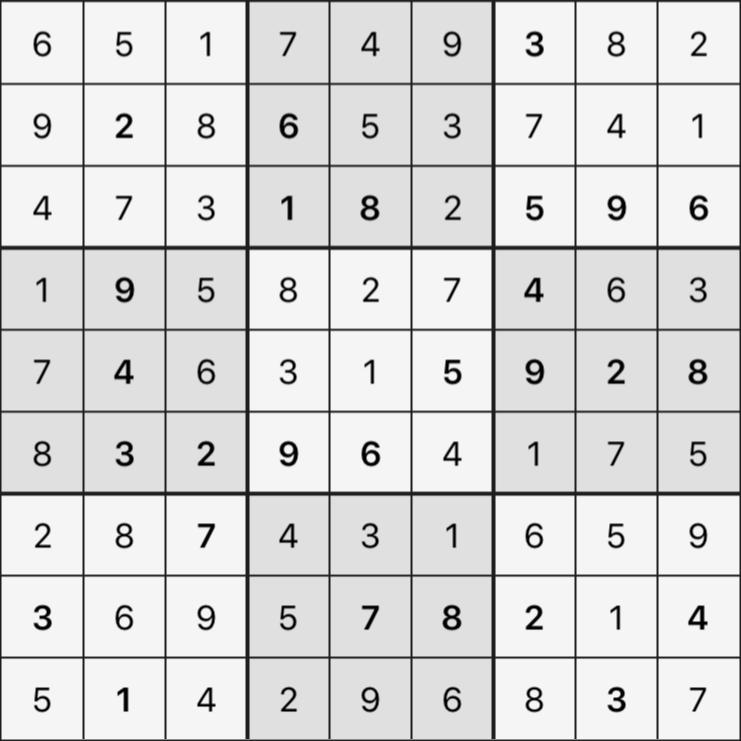 Sudoku's Round – Round 2 – Puzzle 1