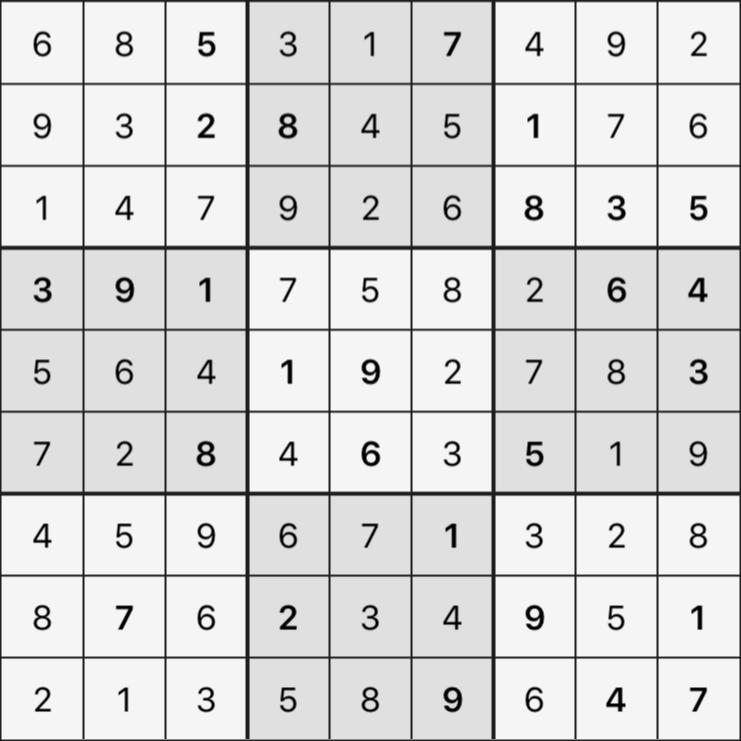 Sudoku's Round – Round 2 – Puzzle 5