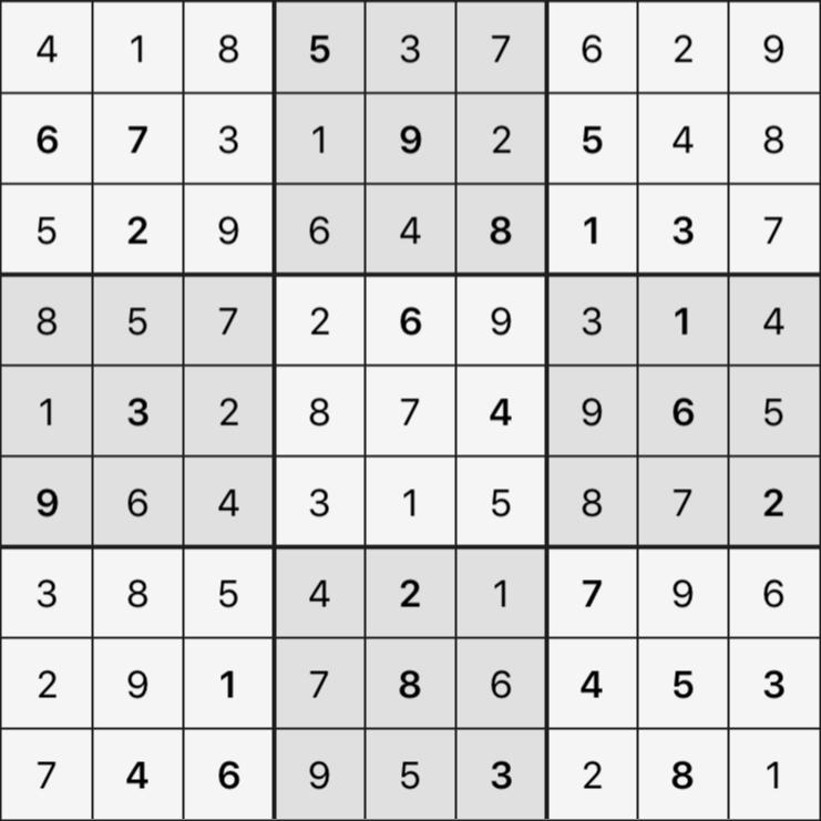 Sudoku's Round – Round 5 – Puzzle 1
