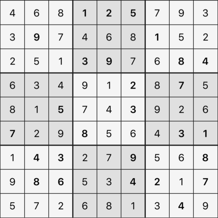 Sudoku's Round – Round 5 – Puzzle 3