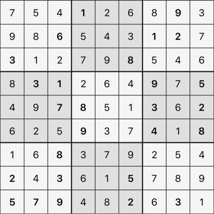 Sudoku's Round – Round 5 – Puzzle 5