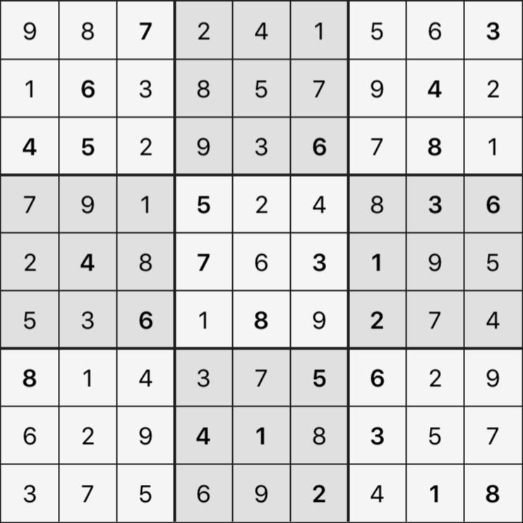 Sudoku's Round – Round 5 – Puzzle 6