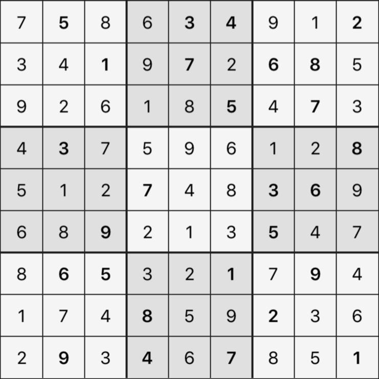 Sudoku's Round – Round 5 – Puzzle 7