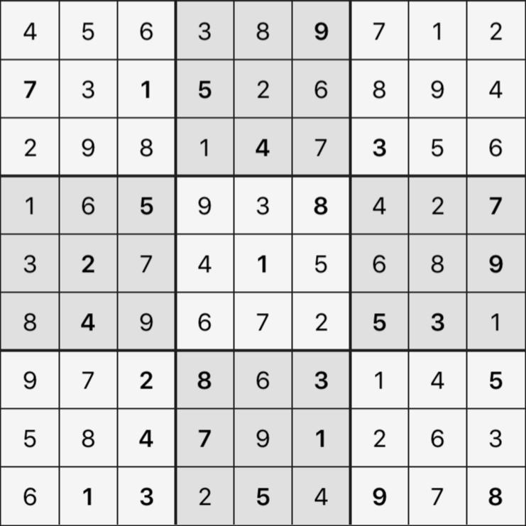Sudoku's Round – Round 6 – Puzzle 1