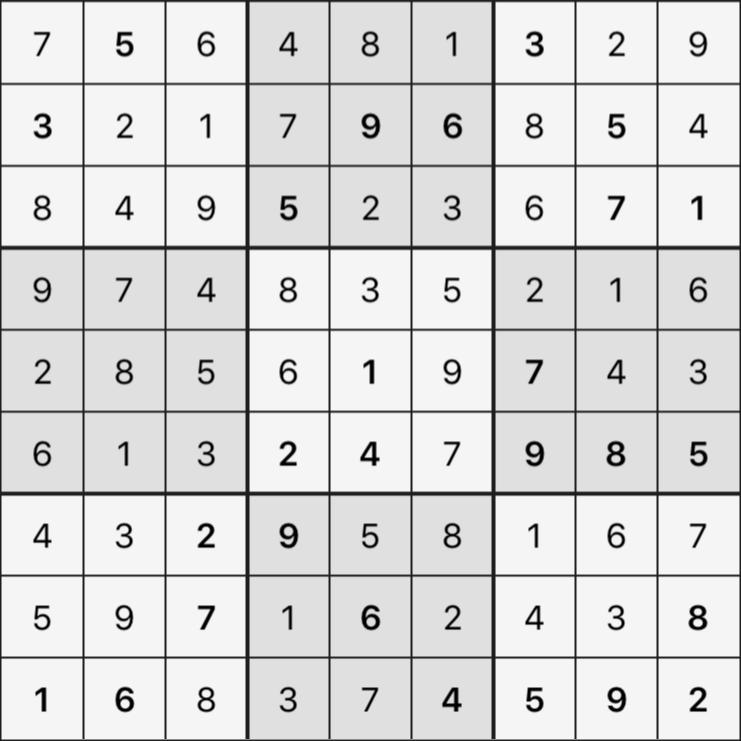 Sudoku's Round – Round 6 – Puzzle 2