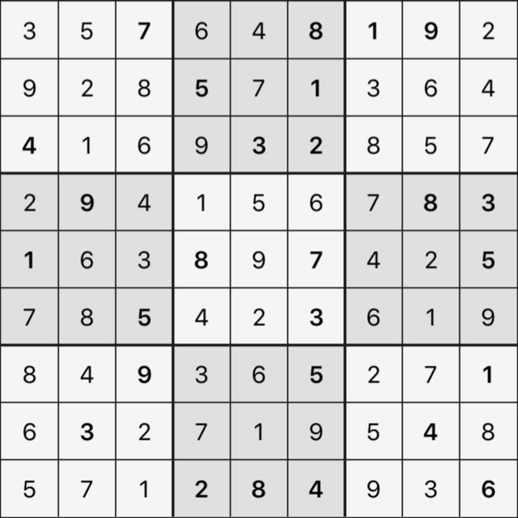 Sudoku's Round – Round 6 – Puzzle 4
