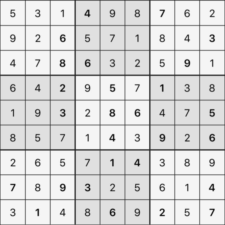 Sudoku's Round – Round 6 – Puzzle 5