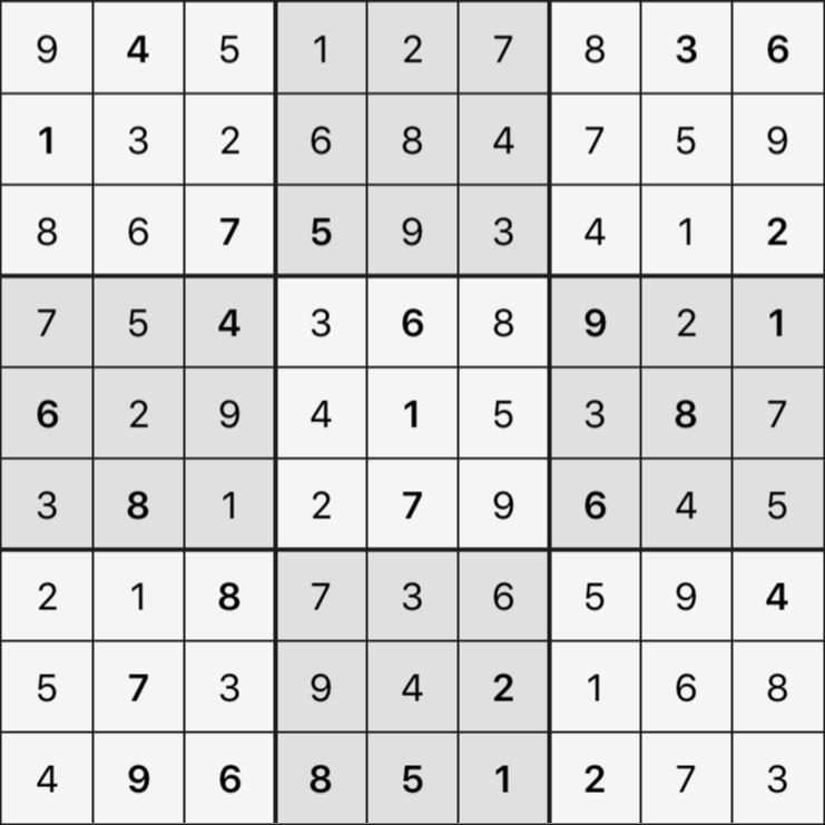 Sudoku's Round – Round 6 – Puzzle 6